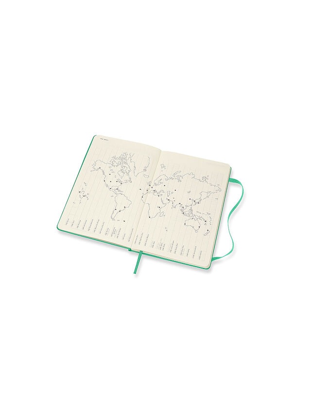 18 Month Ice Green Large Hard Cover Academic Diary