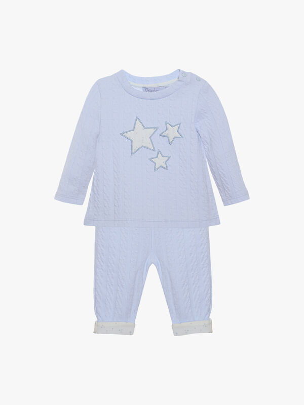 Textured Star Trouser Set