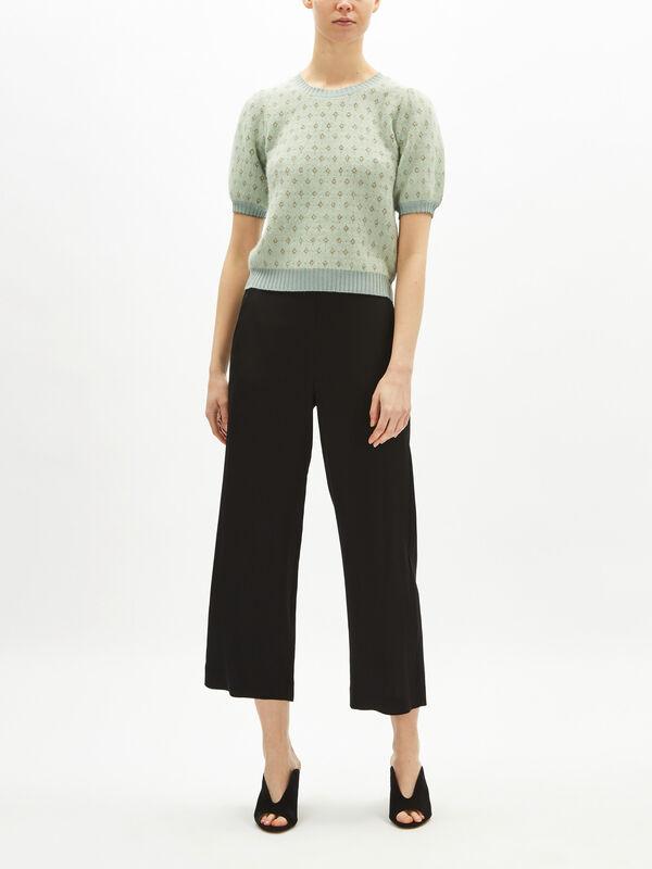 Puff Short Sleeve Knit