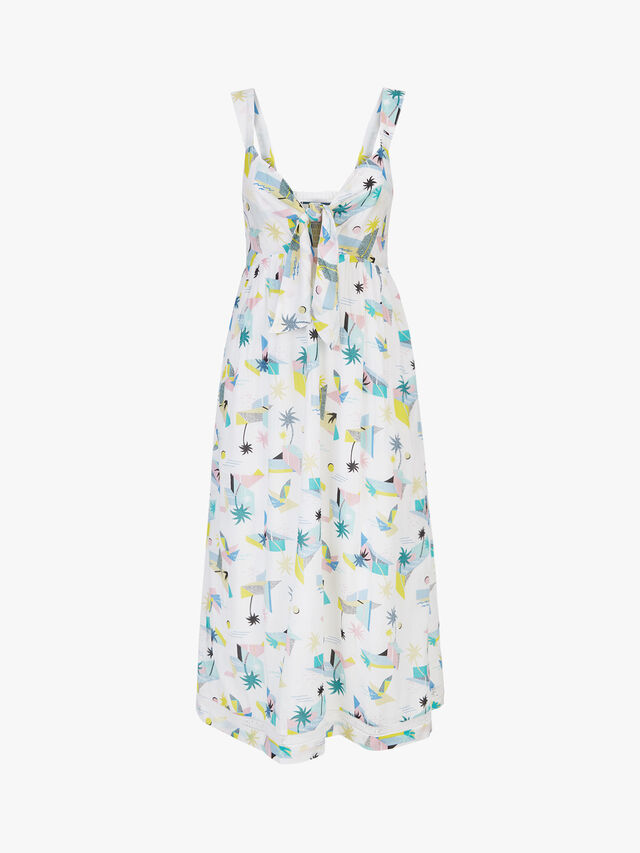 Summer Front Tie Dress