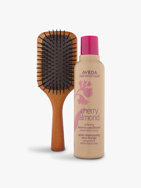 Cherry Almond Leave-In Conditioner and Mini Paddle Brush