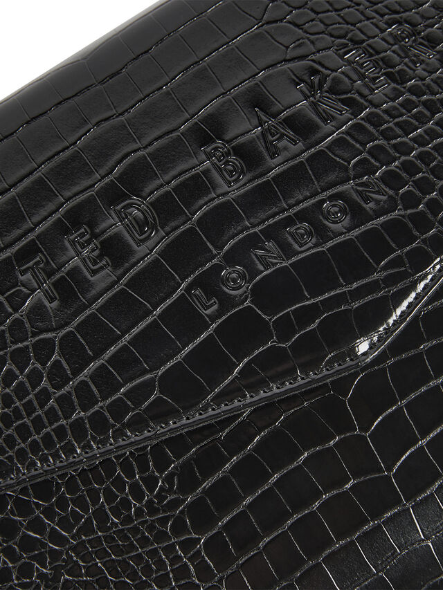 CROCEY Croc Detail Debossed Envelope Pouch