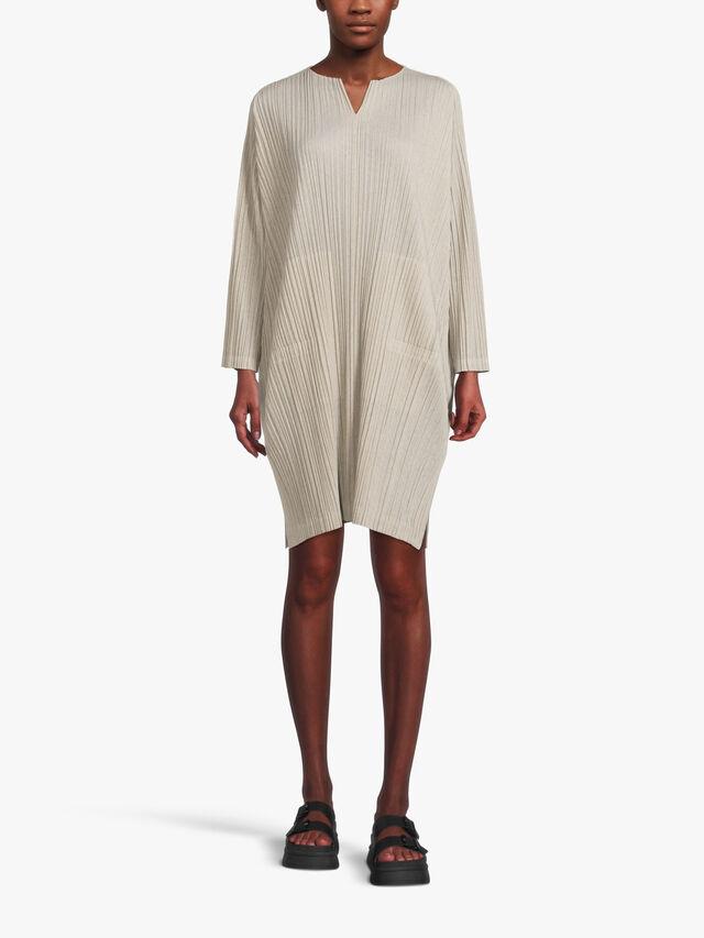 Ramie Pleats Dress