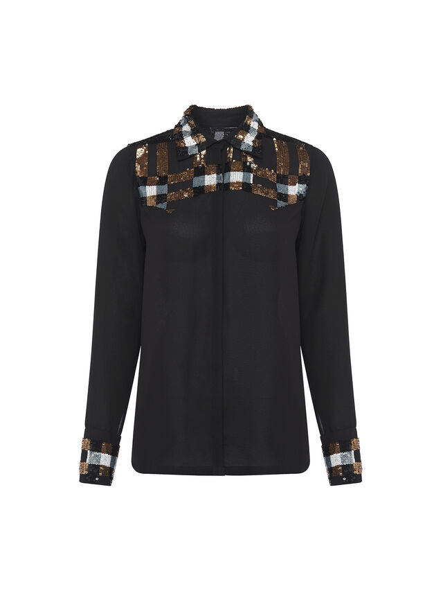 Bala Embellished Sequin Shirt