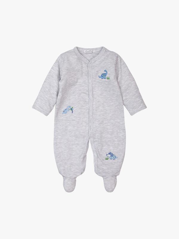 Happy-Saurus Stripe Baby Grow
