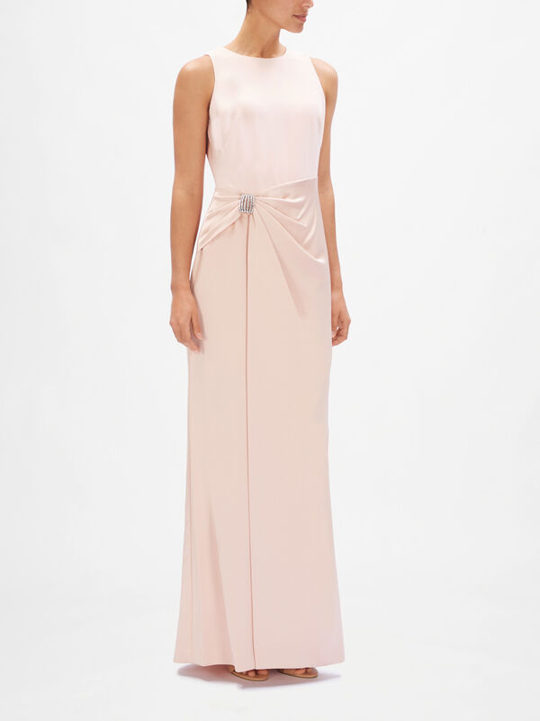Divina Knot Detail Evening Dress
