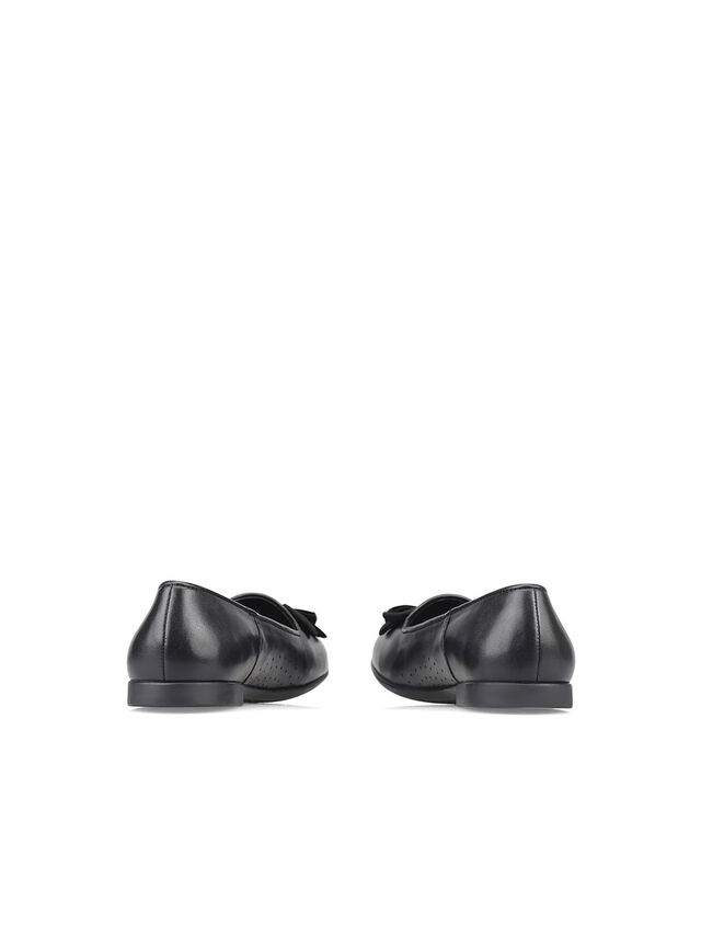Inspire Black Leather School Shoes