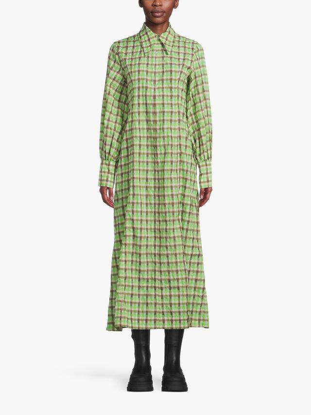 Seersucker Check Shirt Dress