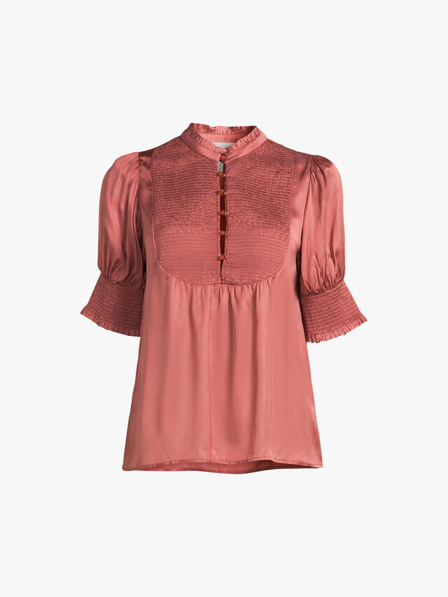 Pine Buttoned Blouse