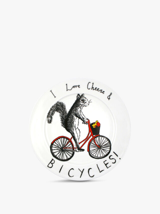 I Love Cheese and Bicycles Side Plate