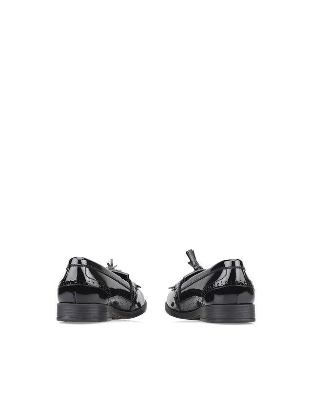 Sketch Black Patent School Shoes