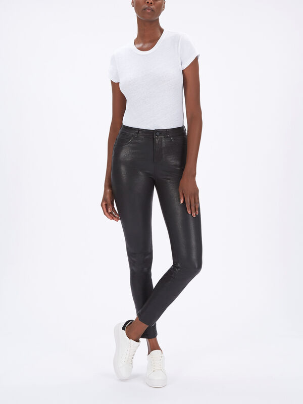 Hoxton Skinny Leather Trousers