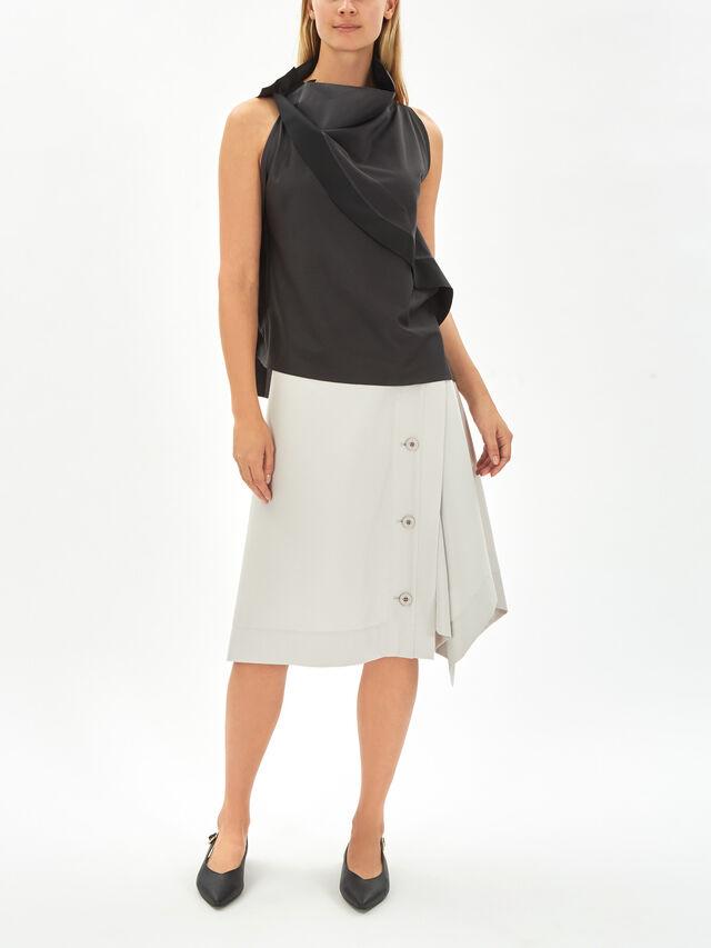 Slit Curve Skirt