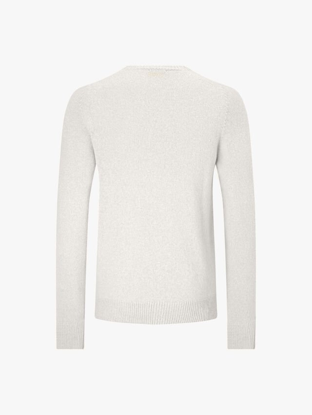 Saddle Crew Neck Cotton Cashmere Knit