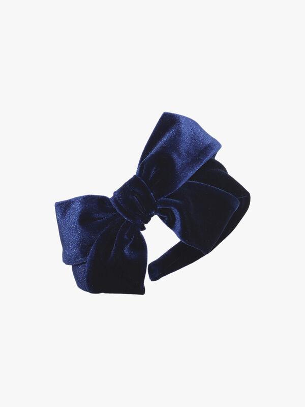 Velvet Headband With Loop