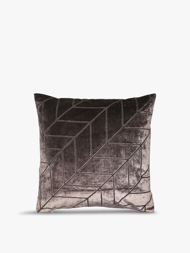 Cut Velvet Chevron Cushion 43cm