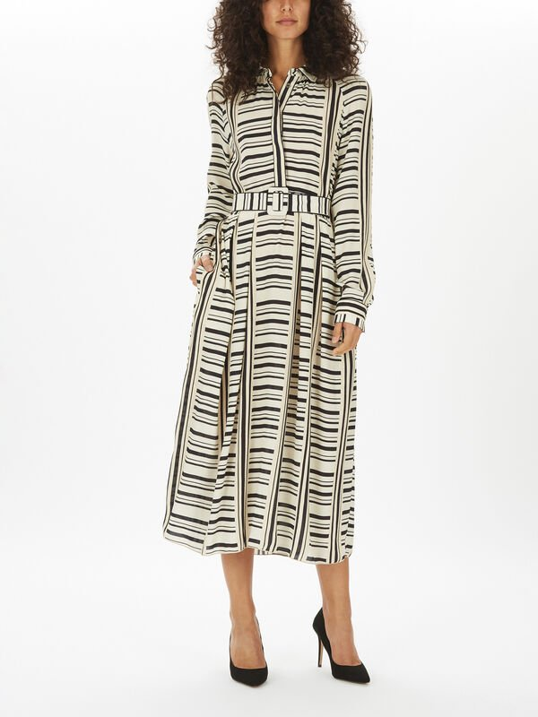 Printed Midi Shirt Dress
