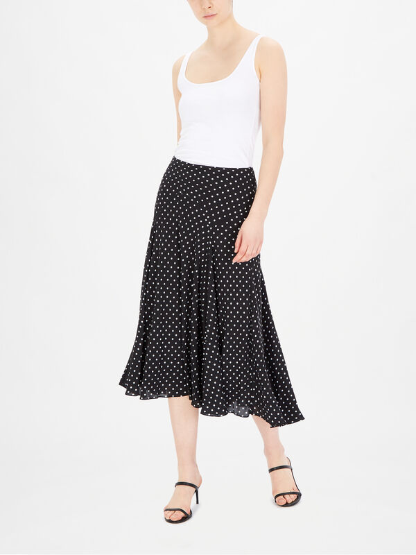 Varizi Spot Print Peasant Skirt