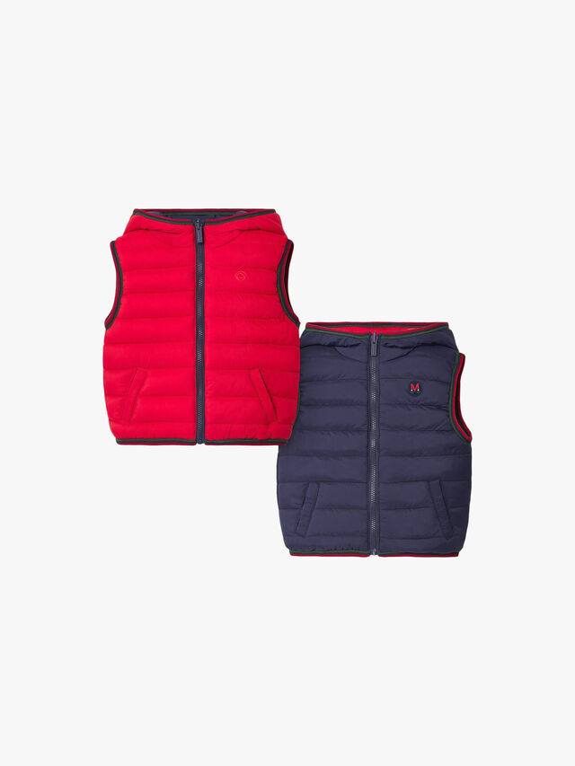 Reversible Puffa Hooded Gilet