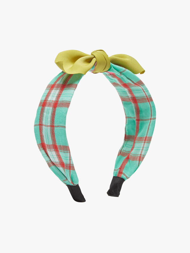 Wired Bow Check Headband