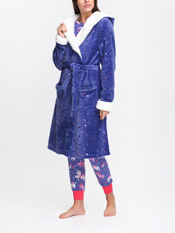 Space Cat Hooded Robe