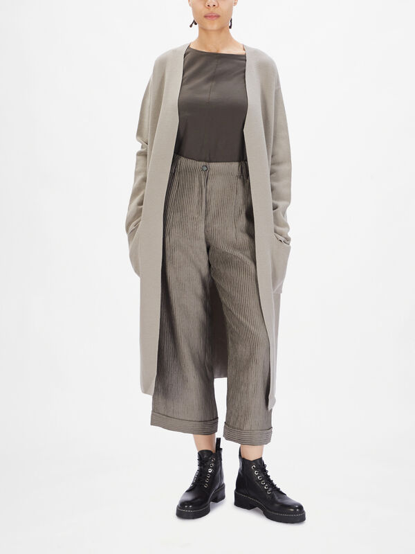 Merino Wool Longline Cardigan
