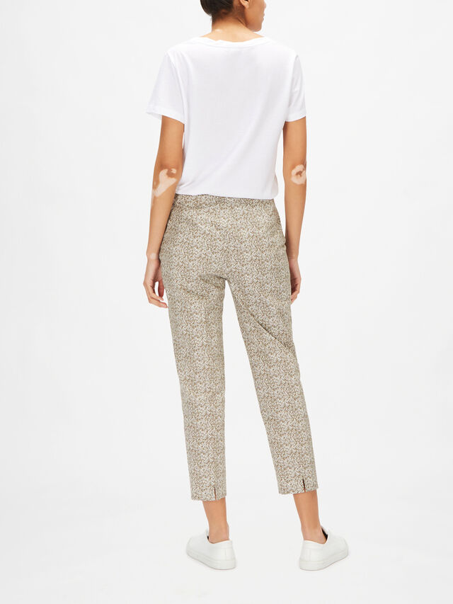 Audrey Microprint Cropped CottonTrouser
