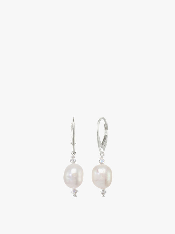 Freshwater Pearl Swarovski Earrings