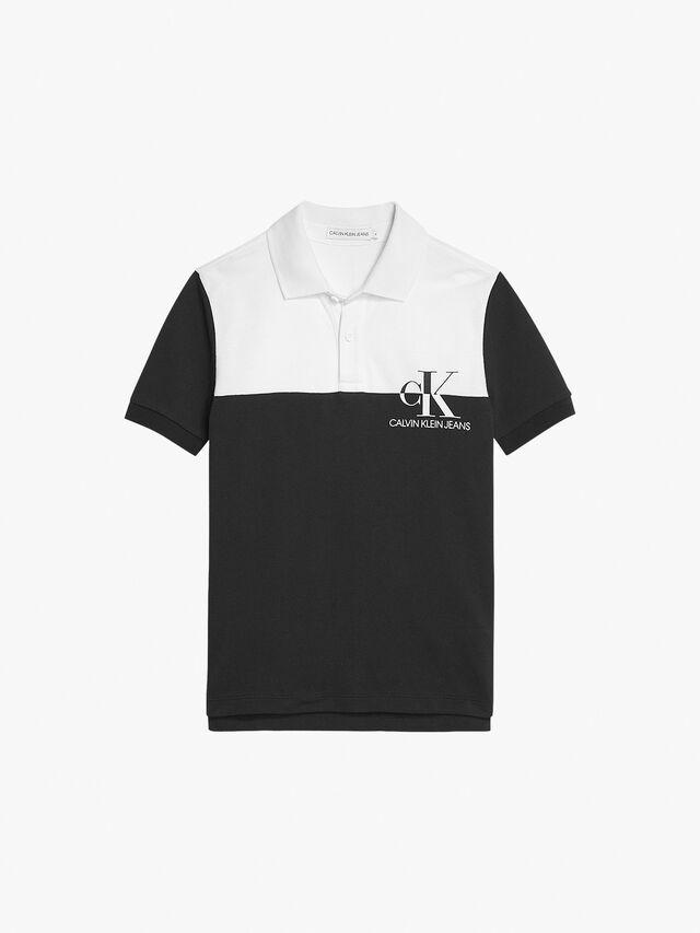 Colour Blocked Polo Shirt