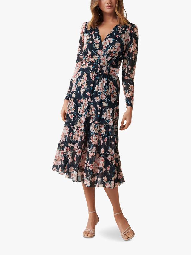 Jennifer Long Sleeve Tiered Midi