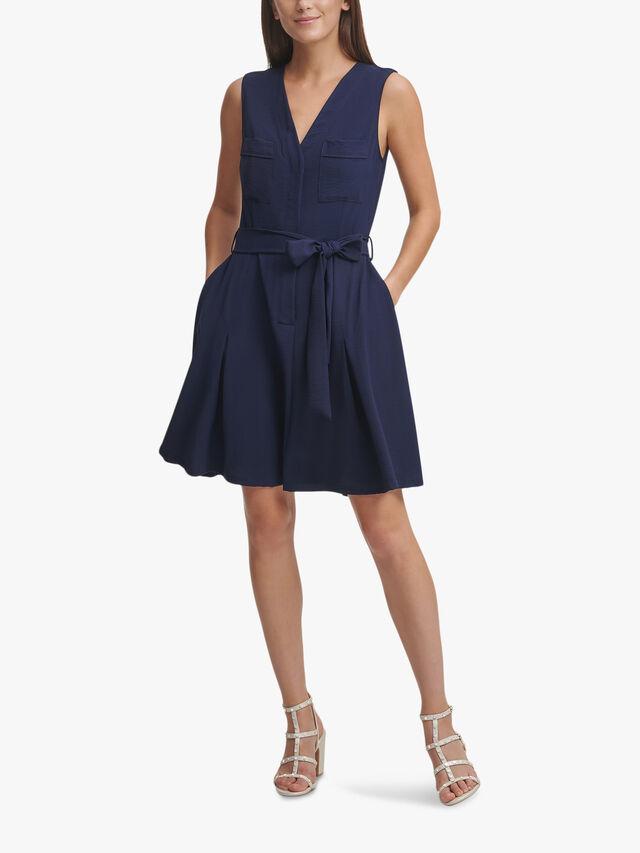 Tie Front Mini Dress