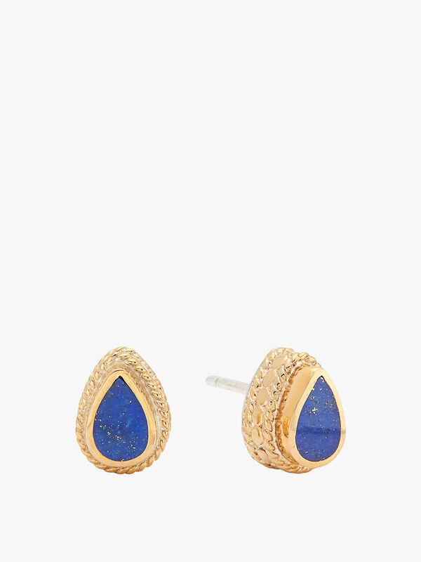 Lapis Teardrop Stud Earrings