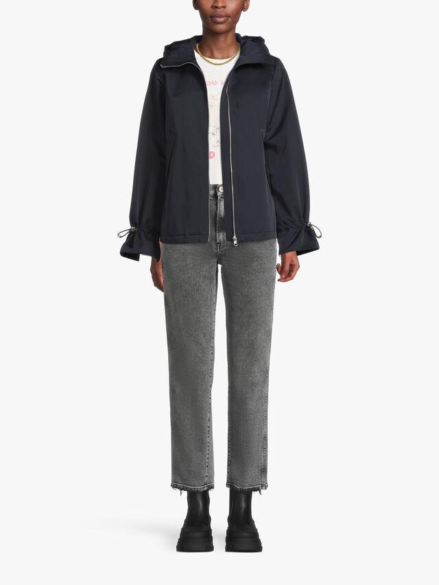 Short Lightweight Hooded Coat