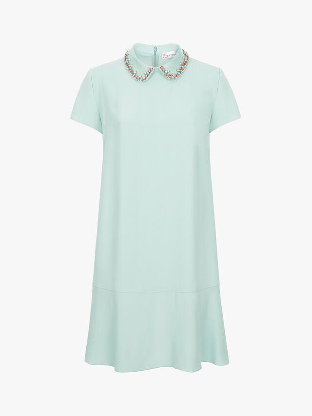 Embellished Collar Short Dress