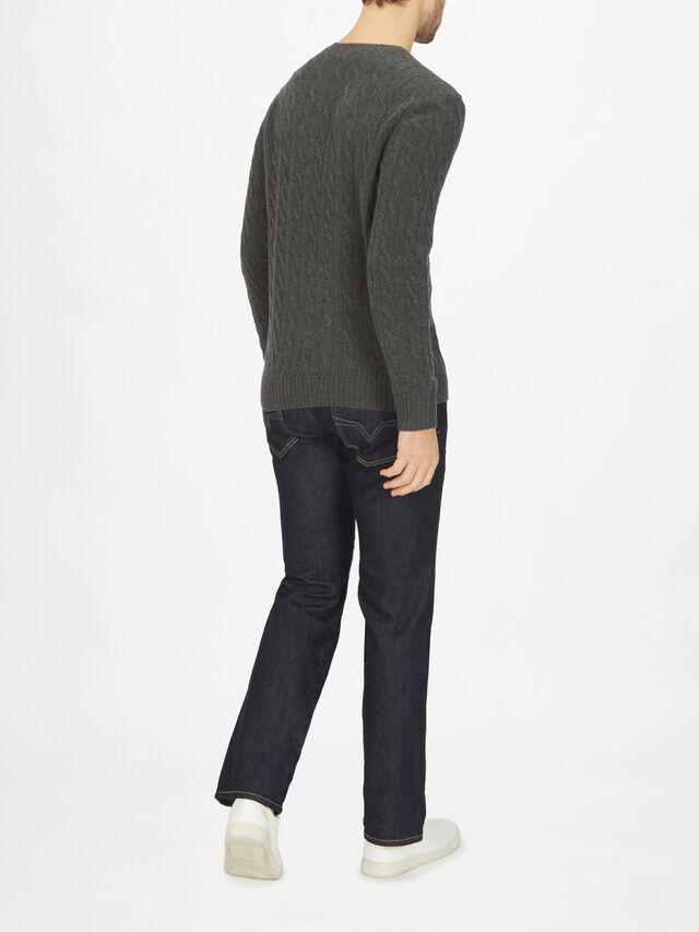 Cashmere Cable Knit Sweatshirt