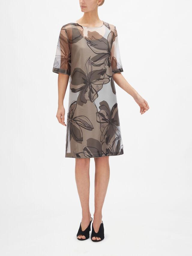 Organza Floral Print Dress