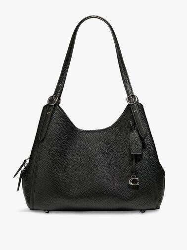 Soft Pebble Leather Archival Edie Shoulder Bag
