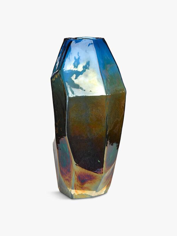 Medium Graphic Luster Vase