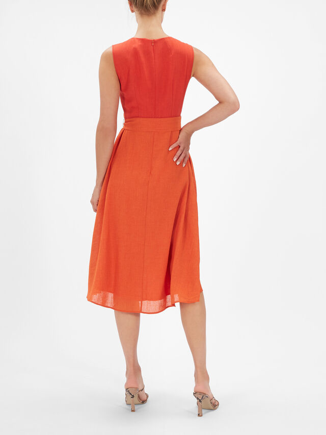 Ginnie Sleeveless Colourblock Midi Dress