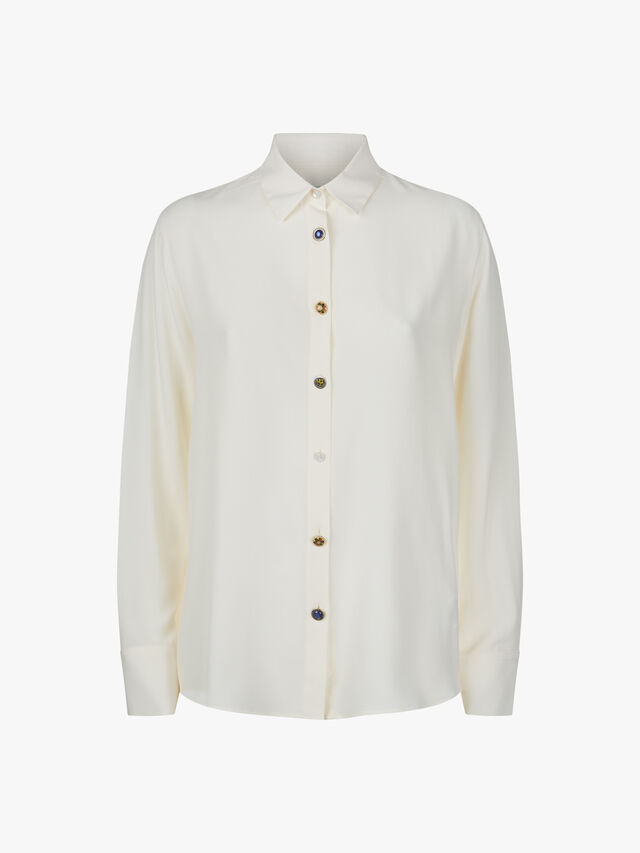 Silk Shirt with Vintage Buttons