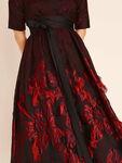 Fringed Jacquard Midi Dress