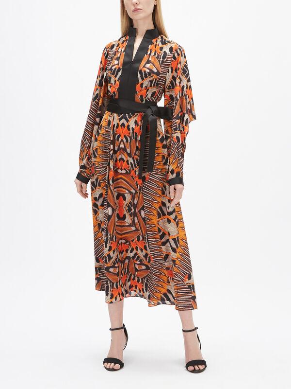 Moth Print Dress