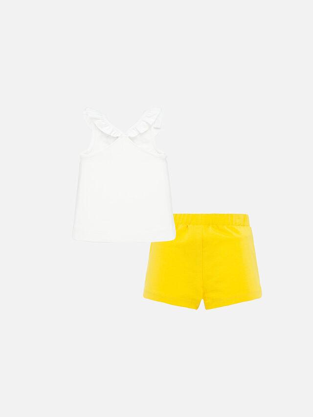Frill Vest Short Set