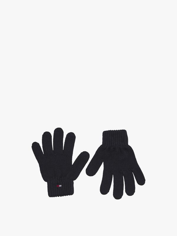 Rib-Knit Flag Gloves
