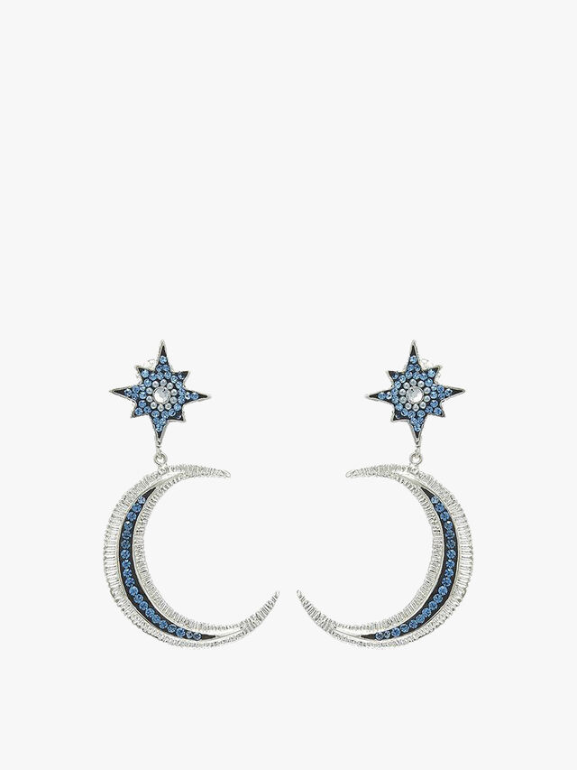 Blue Crystal Orion Earrings