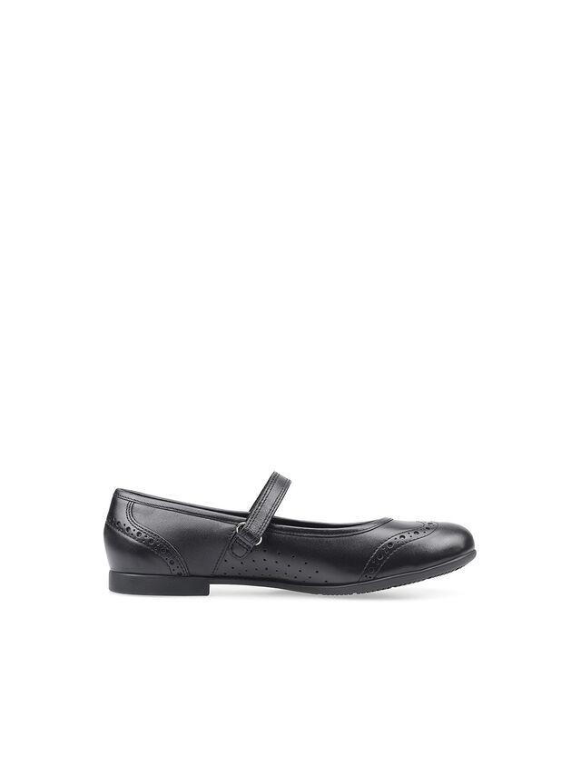 Impress Black Leather School Shoes