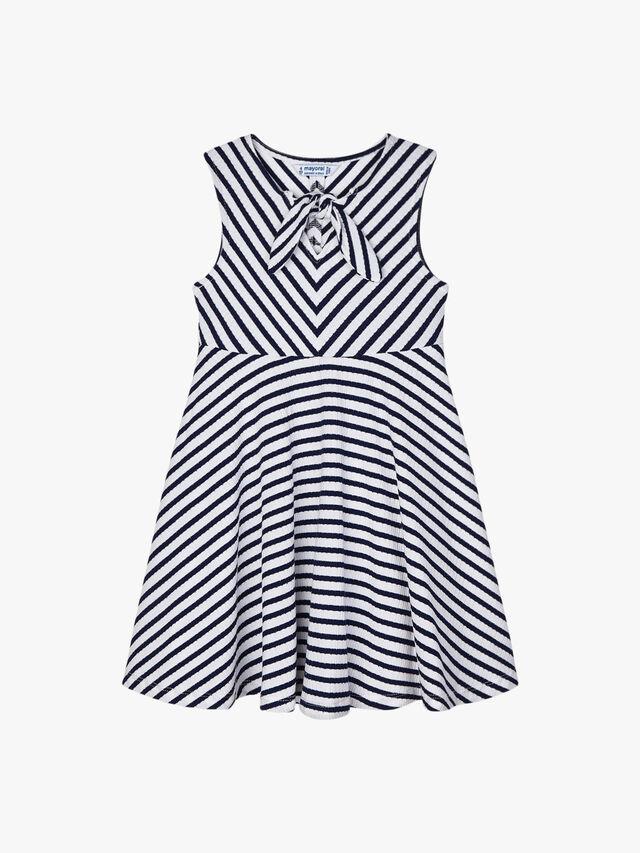 Stripe Sleeveless Jersey Dress