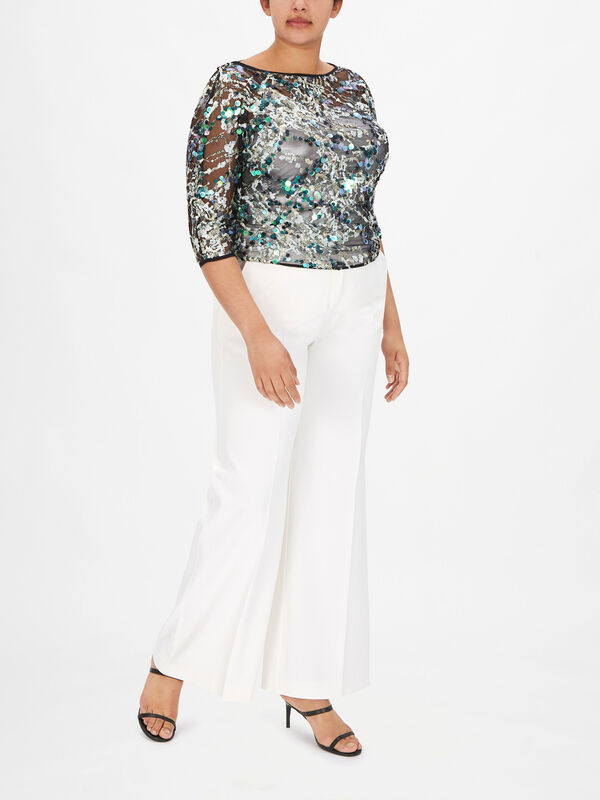 Valzer Embroidered Tulle Blouse