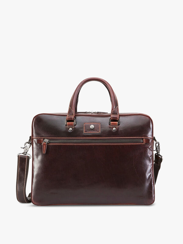 Slim Zip Top Briefcase 13""