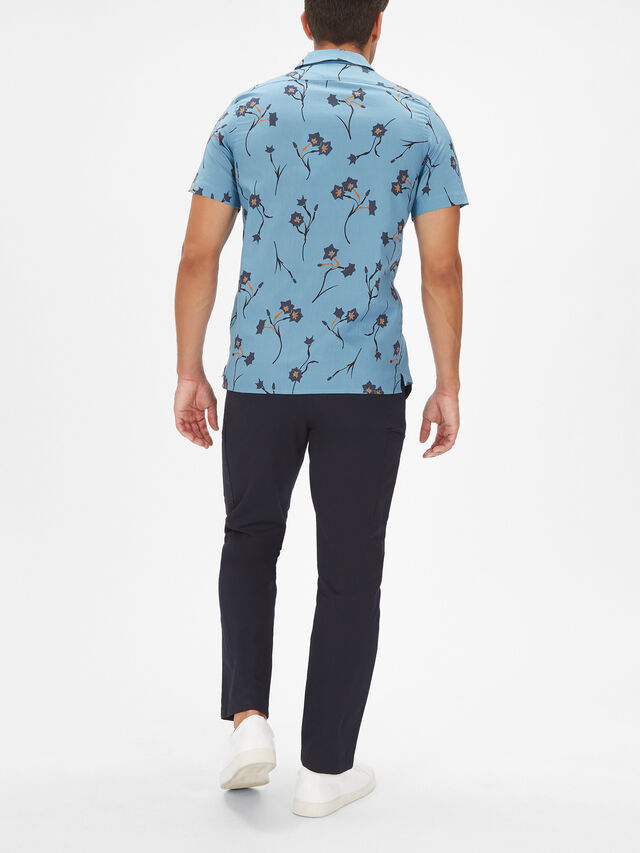 Short Sleeve Casual Large Floral Shirt